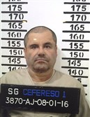 "Joaquin ""El Chapo"" Guzman stands for a prison mug shot Jan. 8 in a photo released by the Mexican federal government."