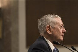 Retried Marine Gen. James Mattis, Donald Trump's choice for secretary of defense, during his confirmation hearing before the Senate Armed Services Committee on Capitol Hill in Washington on Jan. 12.