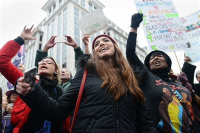 Women's March roars in protest