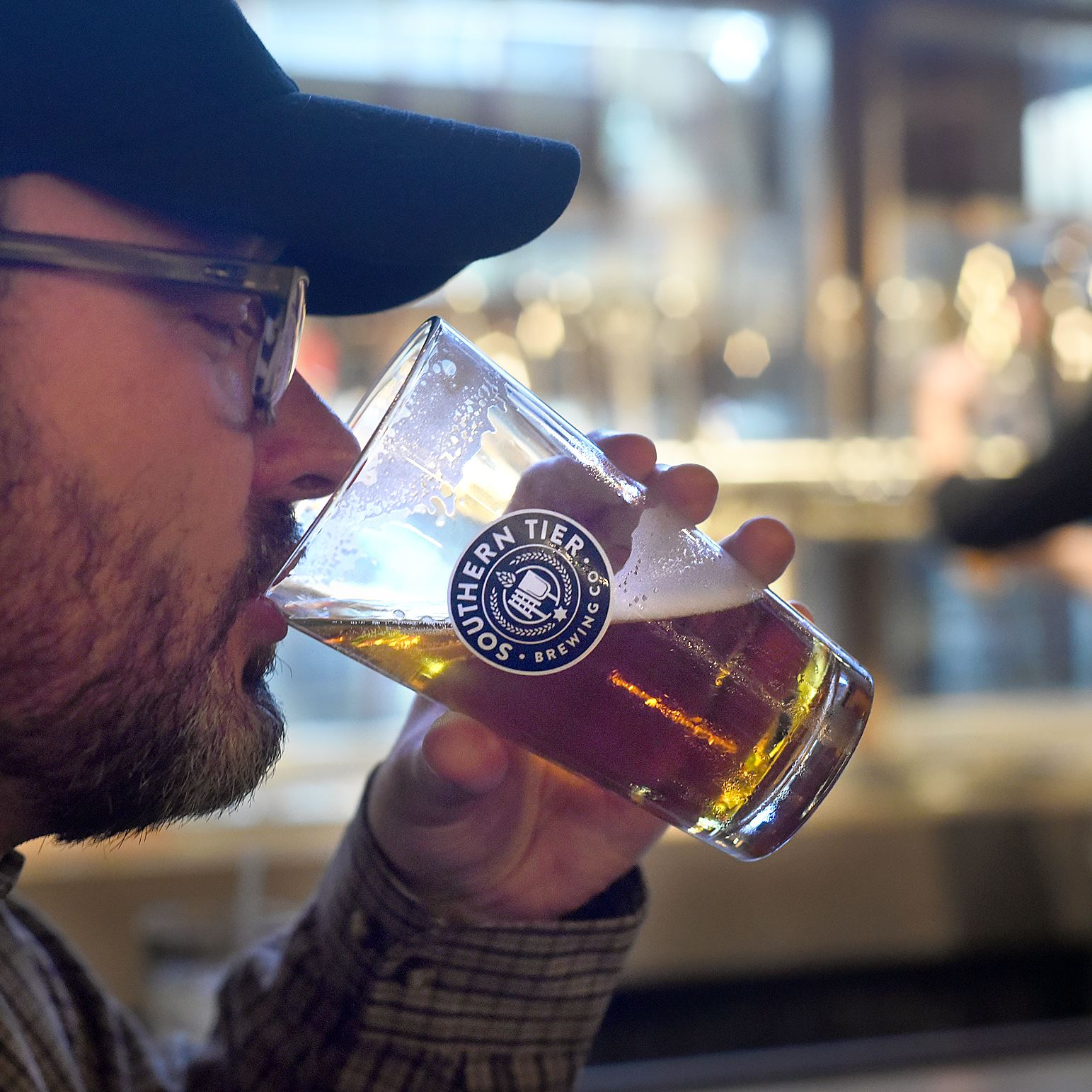 20170120radSouthernTier08-6 Andrew Marunczak of Pittsburgh's Brighton Heights enjoys a brew at the new Southern Tier Brewing on North Shore Drive.