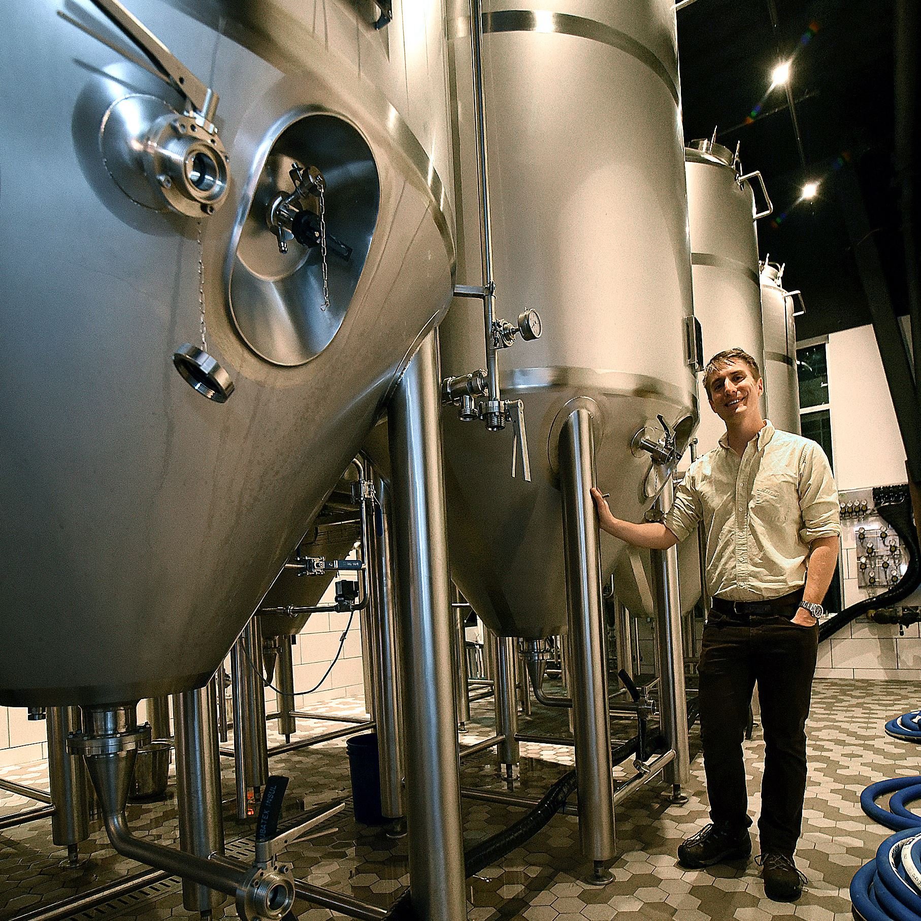 20170120radSouthernTier02 David Harries, Chief Brewer, at the new Southern Tier Brewing on North Shore Drive.