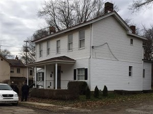 The home at 129 Finley St. in Larimer, where the homeowner fired a gun in the direction of police during a burglary call on Sunday. Officers then returned fire, killing the homeowner.