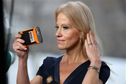 "White House senior counselor Kellyanne Conway prepares to appear on the morning show ""Meet The Press"" on Sunday, when she said White House press secretary Sean Spicer didn't lie — he just gave ""alternative facts."""
