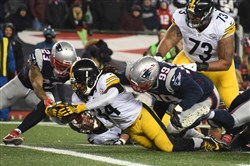 The Steelers had problems getting the ball across the goal line in the playoffs.