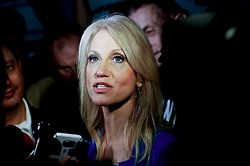 "Kellyanne Conway, the person who coined the term ""alternative facts."""