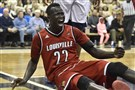 Deng Adel has reason to celebrate with Louisville back in the NCAA tournament as a No. 2 seed after a year away from the big dance.