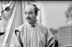 "Actor Lawrence Dobkin playing the role of ""Walter Trump"" in the 1958 TV series ""Trackdown."""
