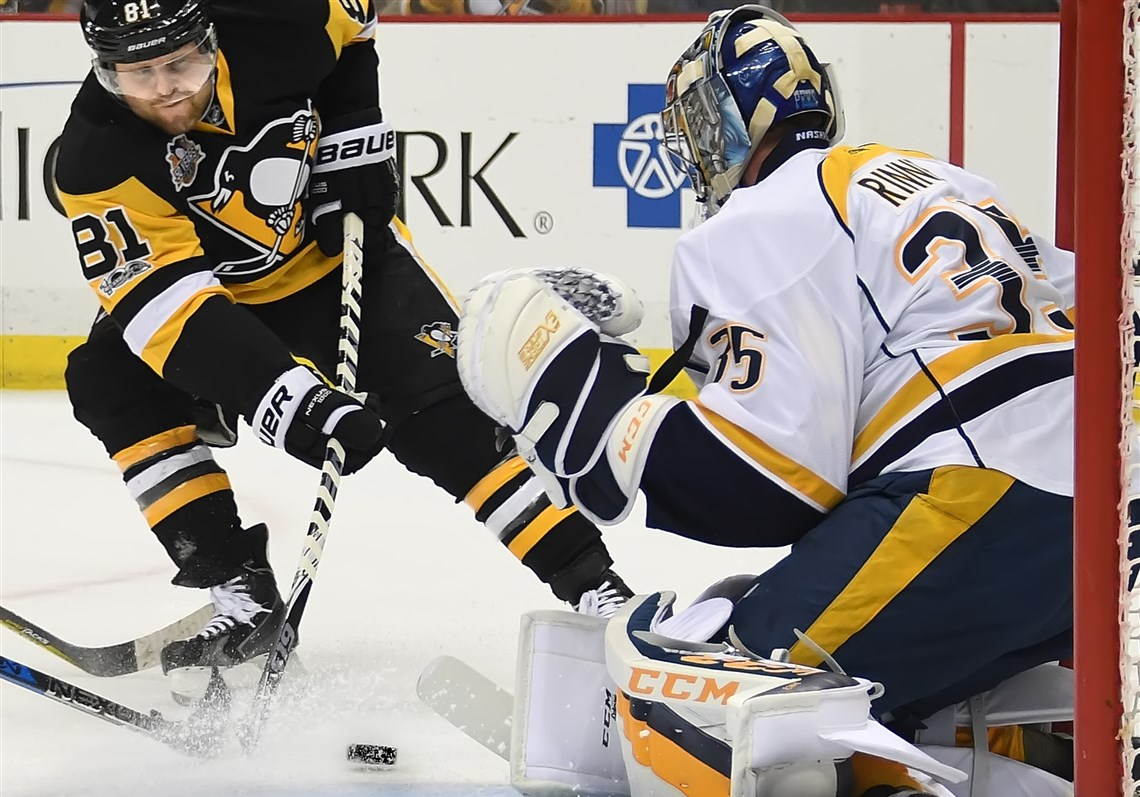 Penguins Know How Good Nashville Predators Goalie Pekka Rinne Is At Stopping Pucks When He's In Front Of His Net