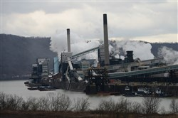 The view of the US Steel Clairton Works from across the Monongahela River in Glassport.
