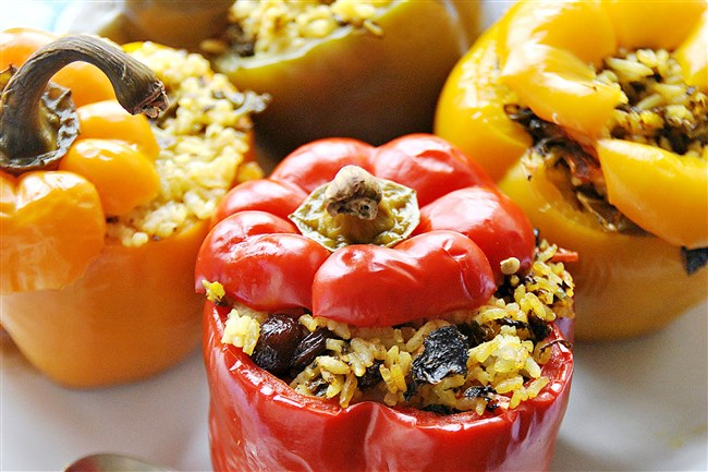 Stuffed Peppers with Spicy Kale.