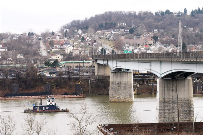 A view of the Wilson section of Clairton from across the Monongahela River in Glassport.