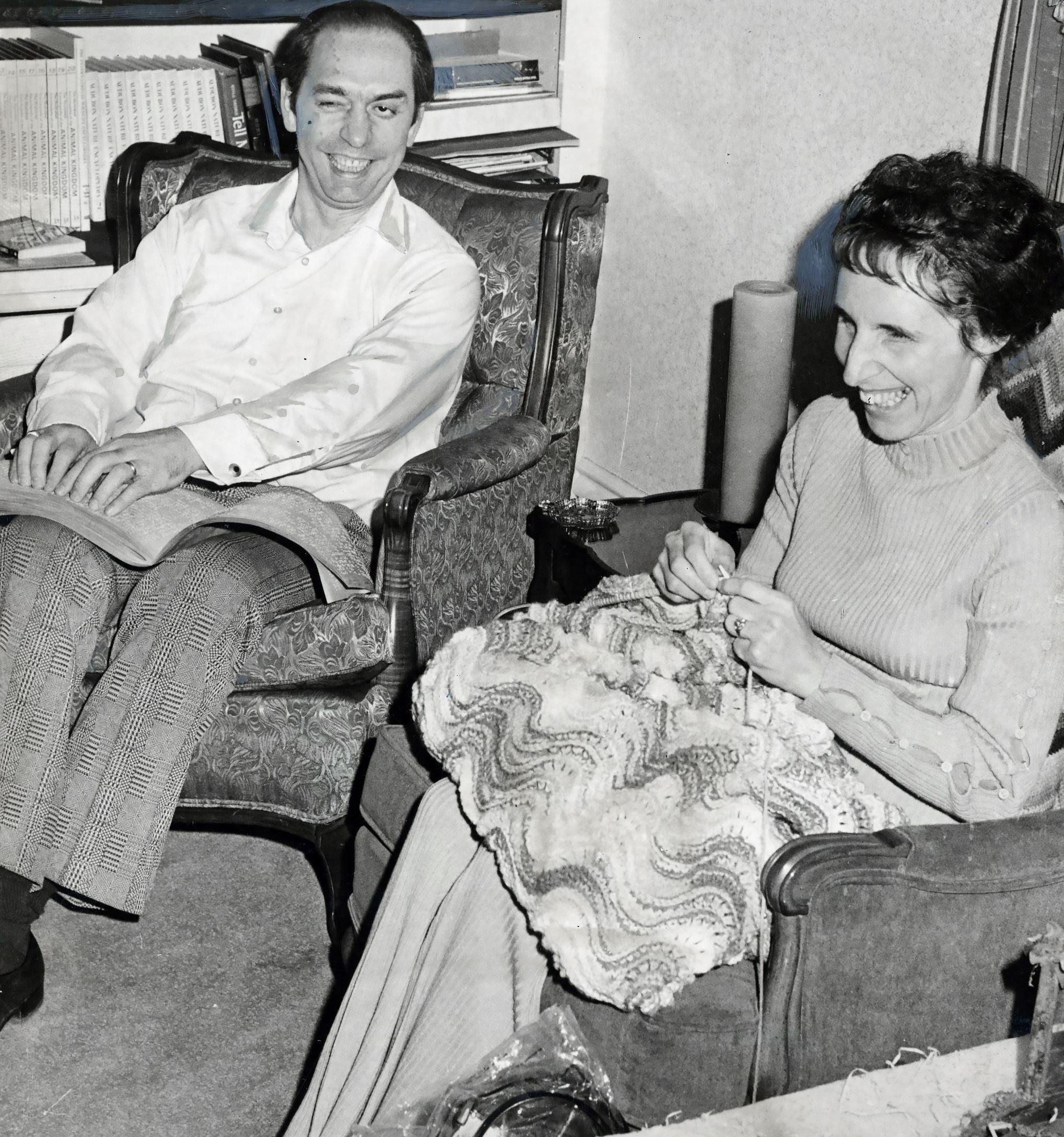 Lloyd-Fuge-3-2 Lloyd H. Fuge with his wife, Dorothy, in December 1973.