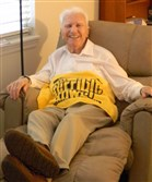 "Wellington ""Wally"" Brewster with his Terrible Towel."