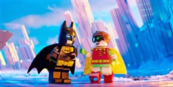 "Batman (voice of Will Arnett) and Robin (voice of Michael Cera) in the animated adventure ""The LEGO Batman Movie."""