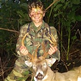 Joey Bonifate, 14, of Morningside took his first deer with a crossbow in Allegheny County. The 13 pointer field dressed at 215 pounds.
