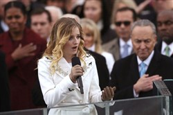 Pittsburgh native Jackie Evancho sings during the Trump inauguration last month.