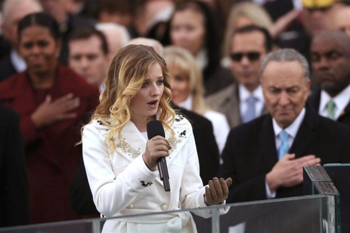 jackie evancho 012017 Pittsburgh native Jackie Evancho sings during the Trump inauguration last month.