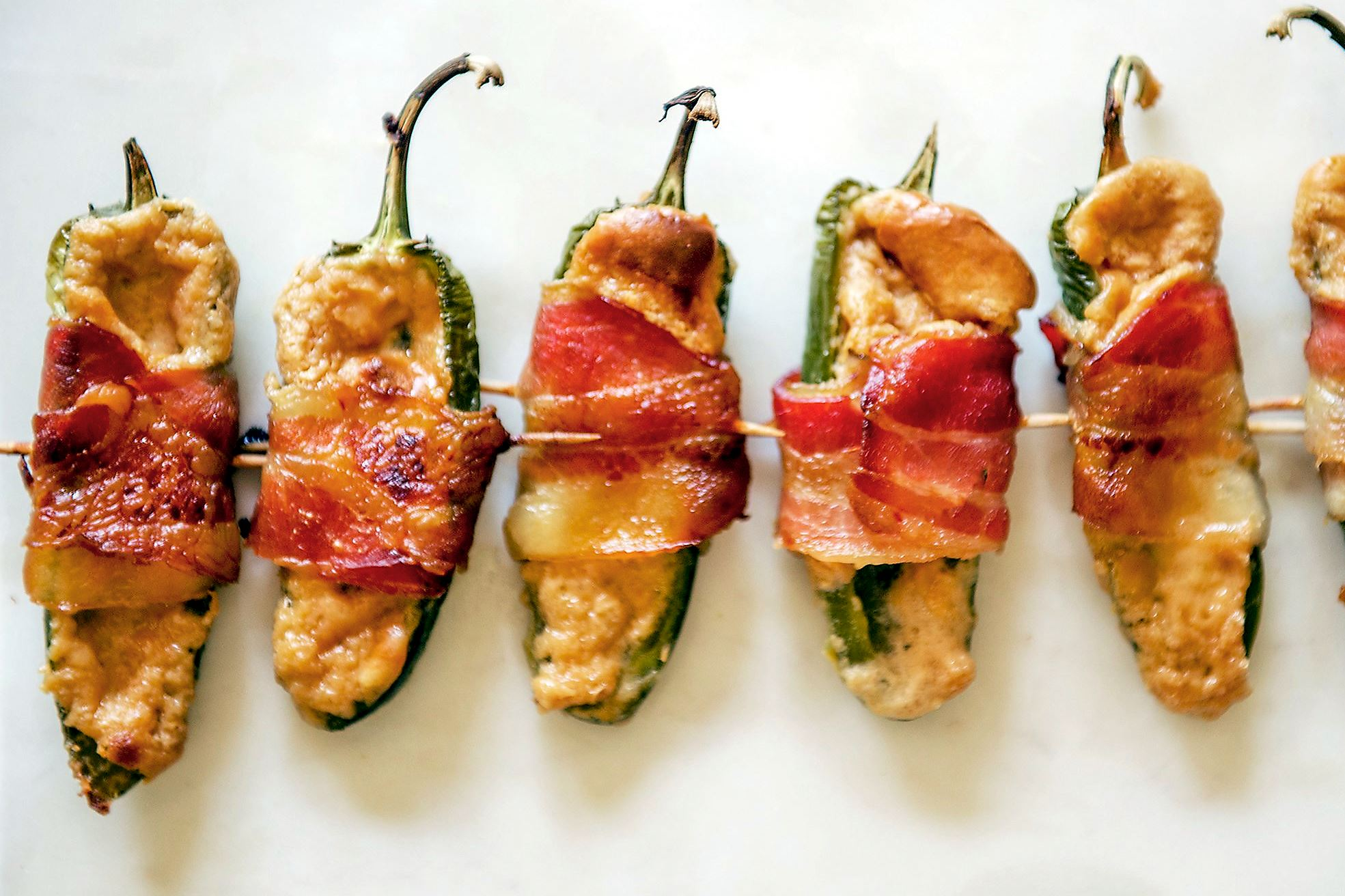 dulce de leche 1 Bacon-wrapped jalepenos.