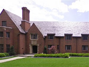 The Beta Theta Pi fraternity house on the Penn State campus.