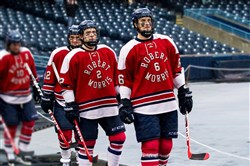 The Robert Morris men's hockey team also played an outdoor game in Toledo, Ohio, in January 2015.