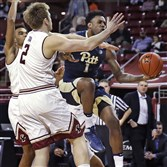 Pitt's Jamel Artis appeared to injure his ankle on opening drive of the game Wednesday against Boston College.