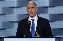Sen. Bob Casey spoke in July on the first day of the Democratic National Convention in Philadelphia.