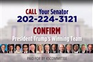 A 45Committee.com ad calls for citizens to phone their senators to support Donald Trump's cabinet nominees.