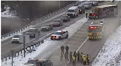 A multi-vehicle crash on Route 28 at the Highland Park Bridge exit forced a road closure and caused a major backup during this afternoon's rush hour.