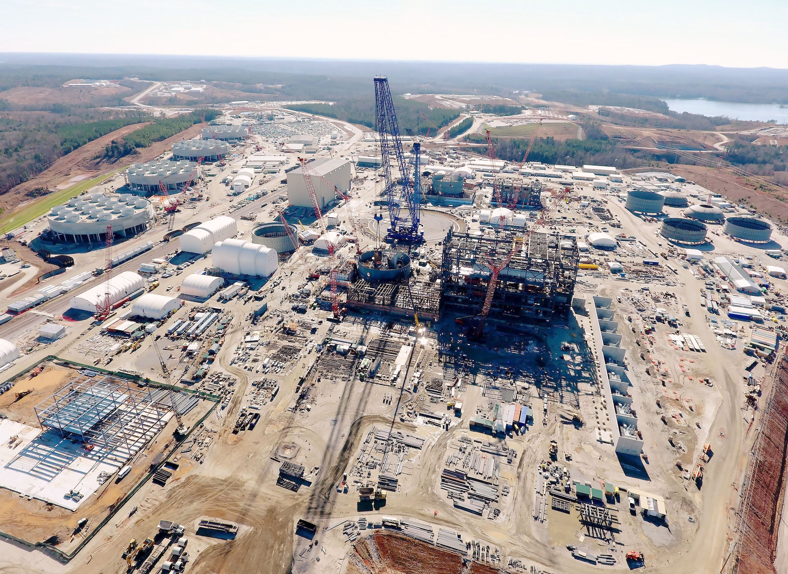 westinghouse-10 This file photo shows construction at the V.C. Summer Nuclear Station in Jenkinsville, S.C., where Westinghouse Electric Co. was building two reactors. Both projects were canceled last week.