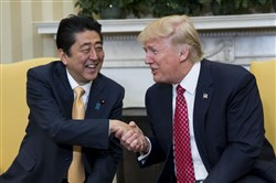 President Donald Trump and Japanese Prime Minister Shinzo Abe.