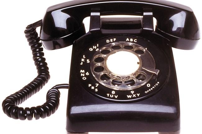 rotary telephone. stock photo