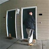 "Ross police released this image ot the man they say is a ""possible burglar."""