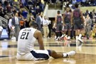 Pitt's Sheldon Jeter reacts after losing to Virginia Tech on Tuesday at Petersen Events Center.