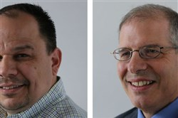 Craig Weber, left, and John Sutton join Pittsburgh Community Broadcasting as director of finance and administration and general manager, respectively.