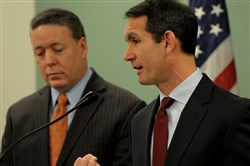 City Controller Michael Lamb and Pennsylvania Auditor General Eugene DePasquale.
