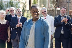 "Daniel Kaluuya is the guest of a very odd garden party in ""Get Out."""