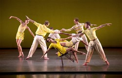 "The Mark Morris Dance Group performing ""Dancing Honeymoon"" in Jacobs Pillow, 2011."