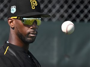 Andrew McCutchen is back in a Pirates uniform, for now.