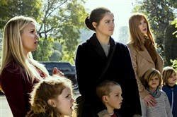 "From left, Reese Witherspoon, Darby Camp, Shailene Woodley, Iain Armitage, Nicole Kidman, Cameron Crovetti and Nicolas Crovetti in ""Big Little Lies."""