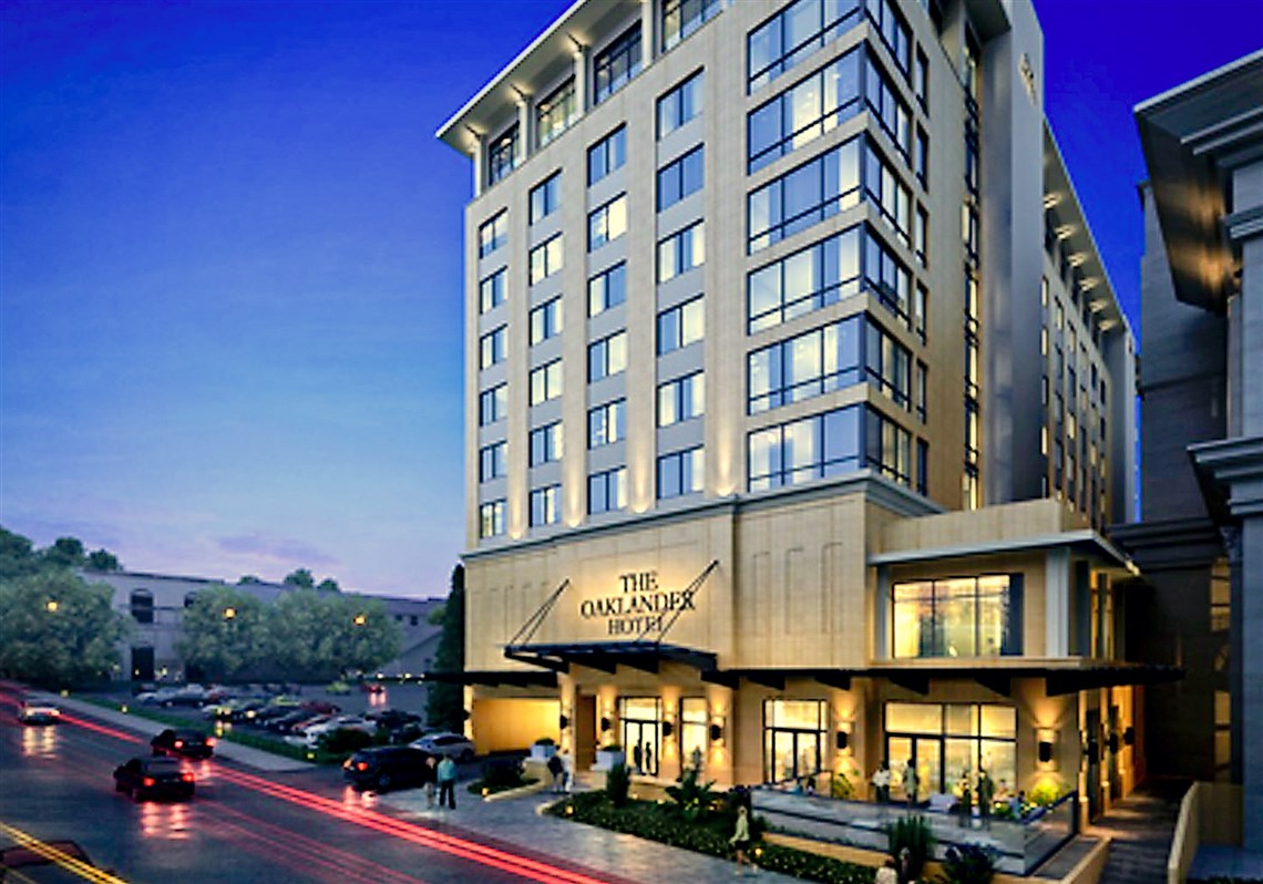 The oaklander hotel is scheduled to open next to the pittsburgh athletic association in oakland in