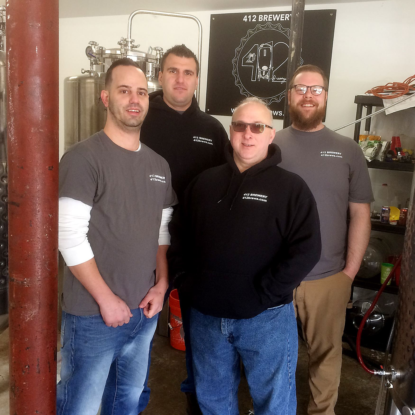 412 brewery team The team behind the new 412 Brewery in McKees Rocks: From left, Scott Davis, Sam Mure, Ed Wojtaszek and Adam Crabtree. They will be pouring samples of their first two beers at the Pittsburgh Winter Beerfest.