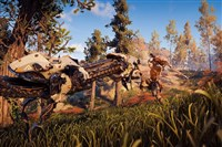 "An image from the video game ""Horizon Zero Dawn."""