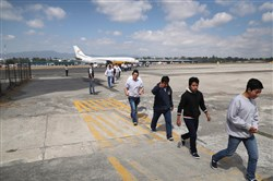 Immigrants deported from the U.S. arriving in Guatemala City this month. President Trump has directed his administration to enforce immigration laws more aggressively.