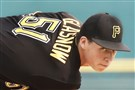 Pittsburgh Pirates Tyler Glasnow delivers during an intrasquad game at LECOM Park in Bradenton Florida this week.