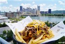 The Steel City Pot Roast Stak is built with fries topped with pot roast, gravy and a blend of colby and cheddar cheeses.