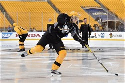 Evgeni Malkin practices Feb. 24, the day before the Penguins faced the Flyers at Heinz Field.