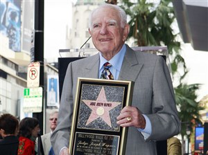Judge Joseph Wapner is honored with a star on the Hollywood Walk of Fame in Los Angeles.