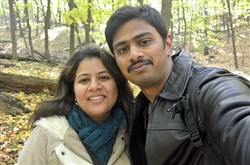 Srinivas Kuchibhotla, who was murdered in Kansas last week, is shown here with his wife, Sunayana Dumala.