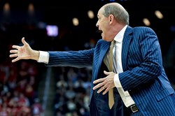 Pitt head coach Kevin Stallings calls out to his team Dec. 2 against Duquesne.