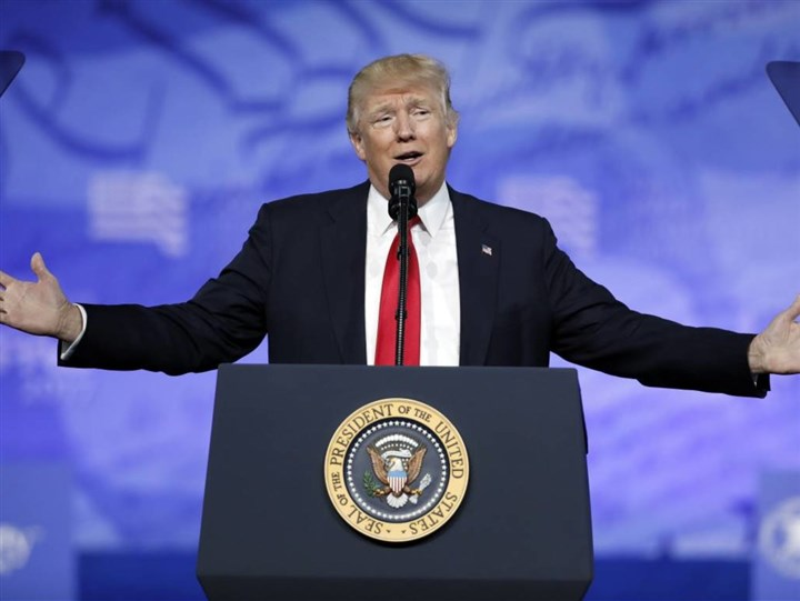 trump CPAC President Donald Trump speaks at the Conservative Political Action Conference (CPAC) in Oxon Hill, Md. on Feb. 24.